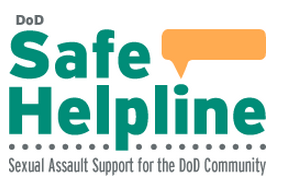 Logo for DoD Safe Helpline. Sexual Assault Support for the DoD community.
