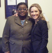 Strickland with Rep. Gwen Moore (D-WI)