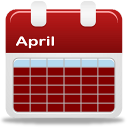 Clip art of calendar for month of April