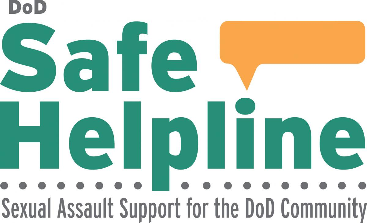 Safe Helpline logo, support for the DoD community after sexual assault